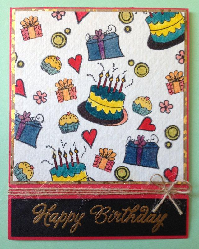 Distress Coloring Birthday