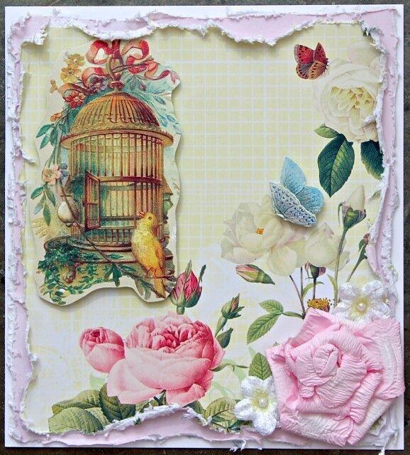 Floral card (C'est Magnifique kit)