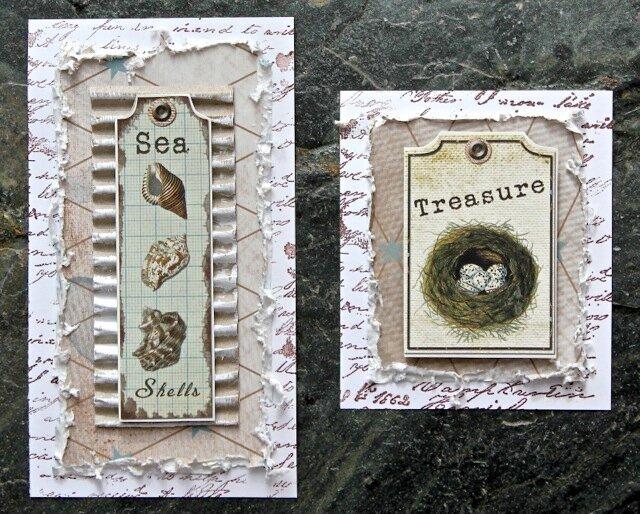Card set - sea (C'est Magnifique kit)