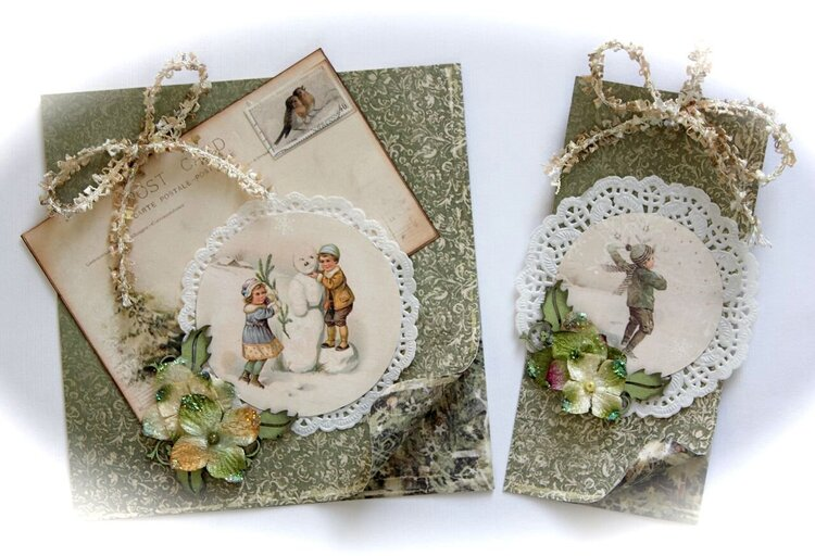 """Child card and tag set *Scrap That! Pion Design """"Waiting for Santa"""" Kit*"""