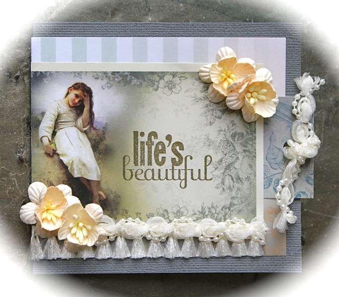 Life's Beautiful Card *Meg's Garden/Green Tara*