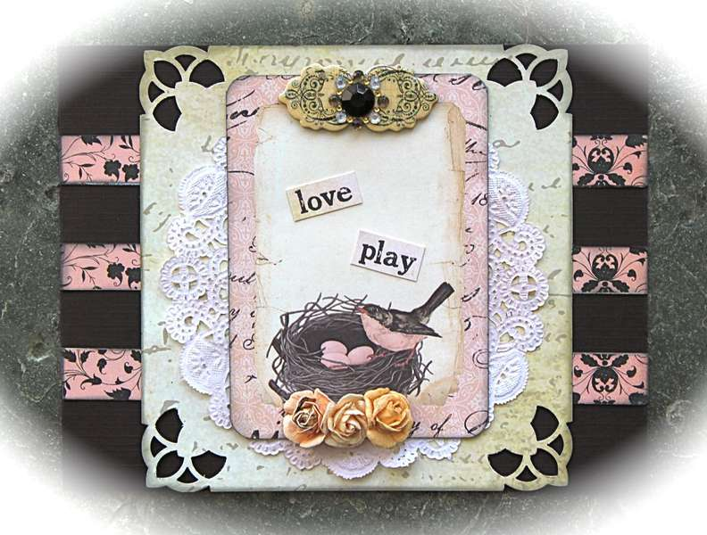 Love Play Card *SwirlyHues Challenge*