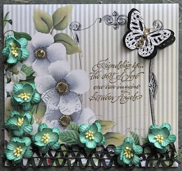 Friendship Card (Meg's Garden/Green Tara/Helmar)