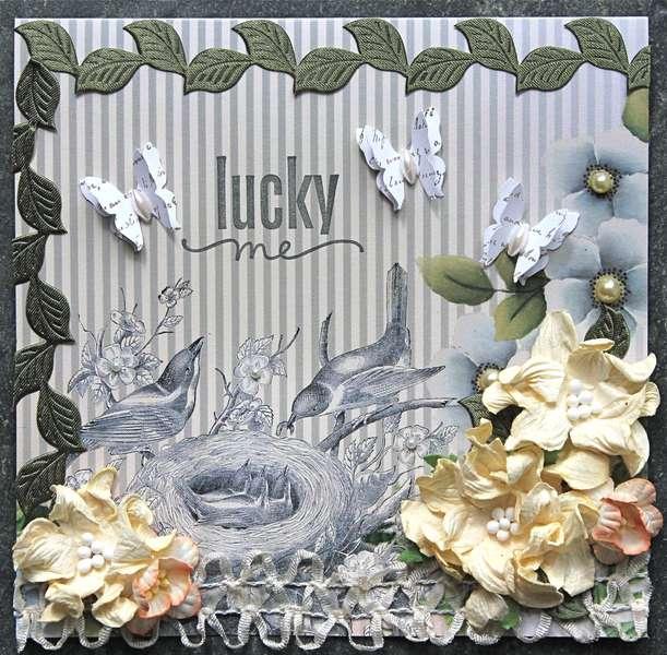 Lucky Me Card (Meg's Garden/Green Tara/Helmar)