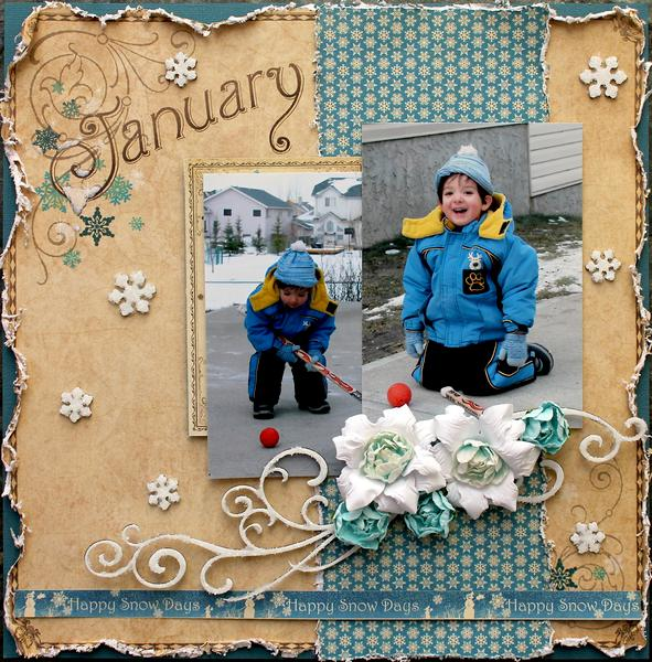 January snow days *Swirlydoos kit club/ Dusty Attic*
