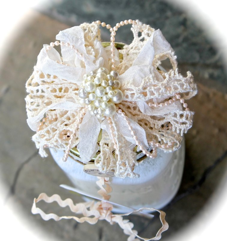 Pearl and Lace Flower Tutorial