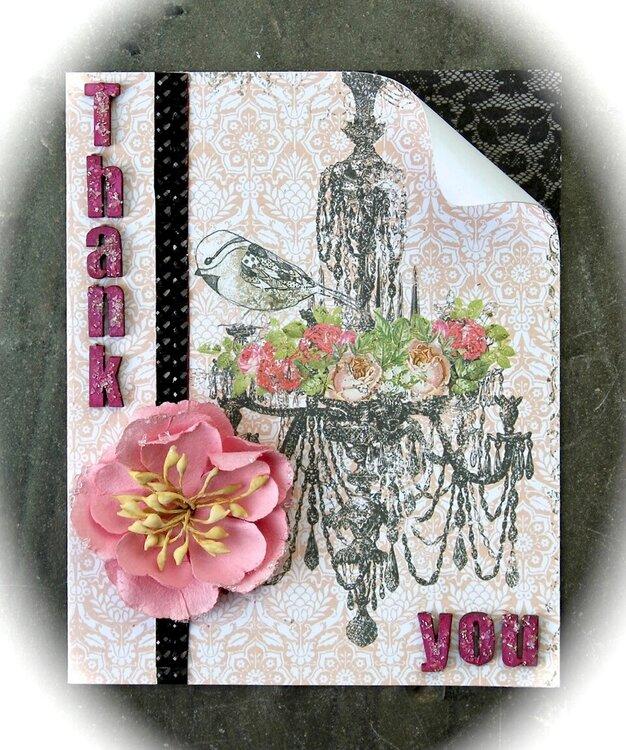 thank-you card *Swirlydoos kit club/ Dusty Attic*