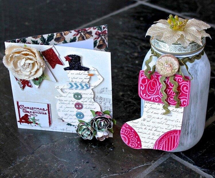 Card/tag set (Something Tattered Stamps)