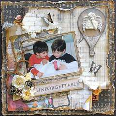 Unforgettable (Swirlydoos kit / Helmar adhesives)