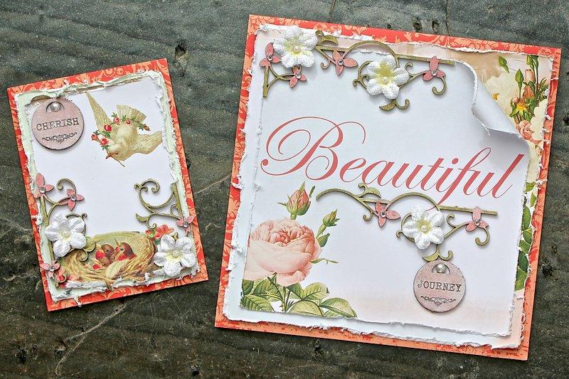 Wedding card/tag set (Dusty Attic Chipboard)