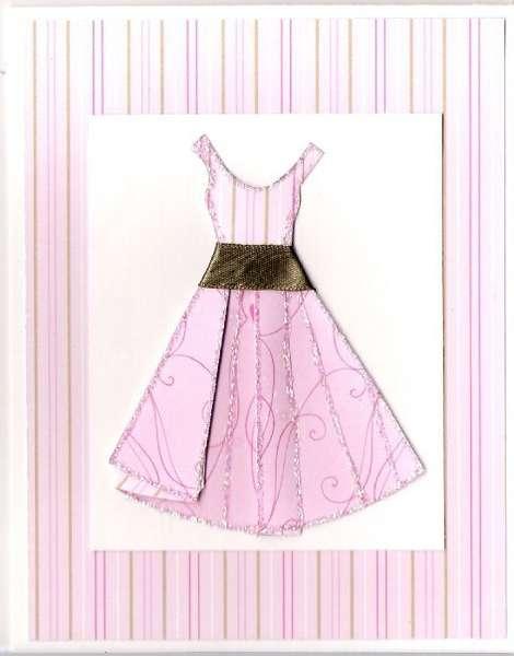 3-D dress card