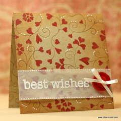 Wedding card - Best Wishes