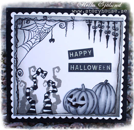 Halloween in black and white