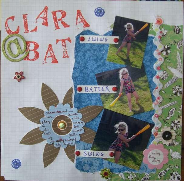 Clara at Bat