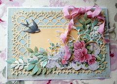 "Shabby Chic ""Spring Garden"" card"