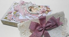 Shabby Chic Tag, box, and vintage doily wrapping