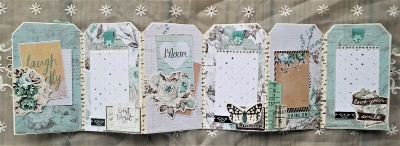 "Mini Accordion Tag Book ""Dream Big"""