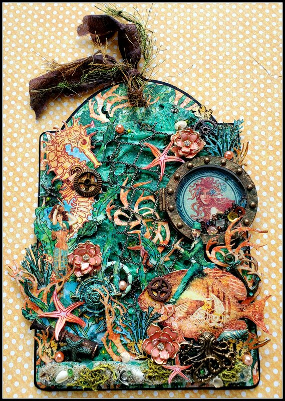 """Voyage Beneath The Sea""Summer Secret Partner Tag Swap"