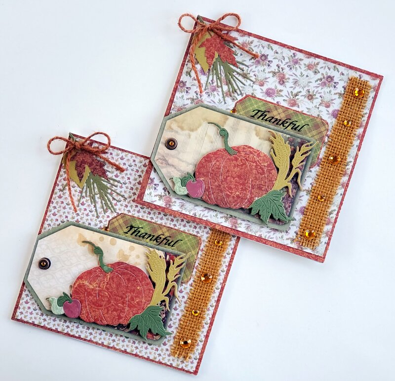 Thankful Thanksgiving Tag cards