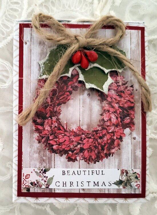 Secret Santa Matchbook w/tiny album Ornament