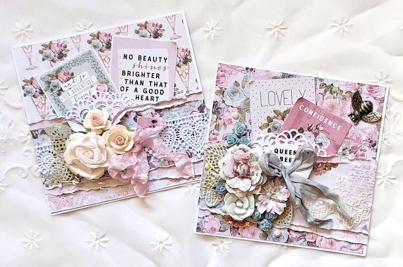 "Prima's ""Poetic Rose"" Cards"