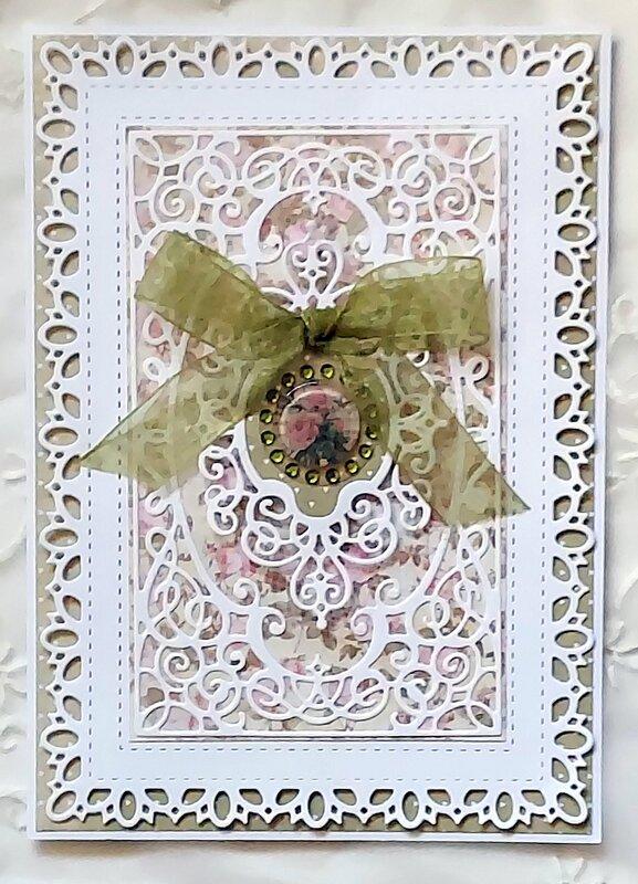 Dessert Rose Card