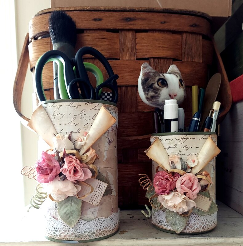 up cycling tin cans