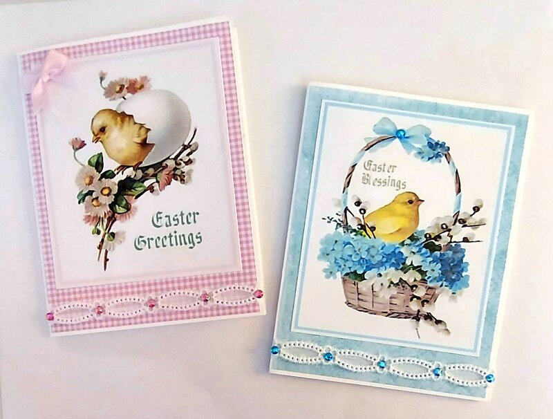 set of 2 Easter cards