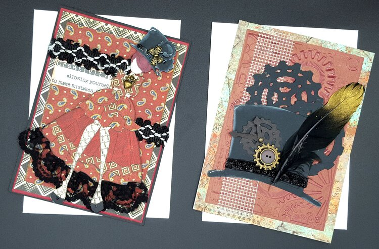 set of G45 Steampunk cards