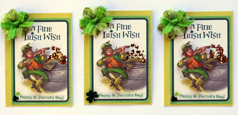 "Feb.- ATC- swap.- St. Patrick's Day-""Irish Wish"""