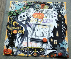 """Nightmare Before Christmas """"Halloween Town"""" all the layers"""