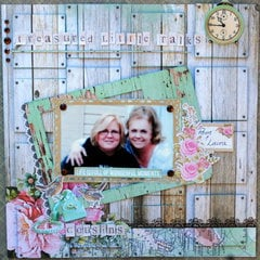 """Treasured Little Talks"" Shabby Chic LO"