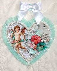 Shabby Chic Heart wall hanging #2