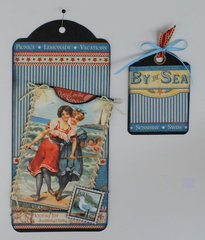 """July By The Sea"" pocket tag"