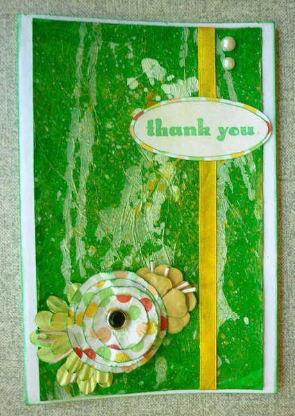 Green 'thak you' card