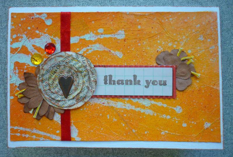 Orange 'thank you' card
