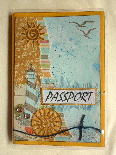 """""""Sea"""" passport cover"""