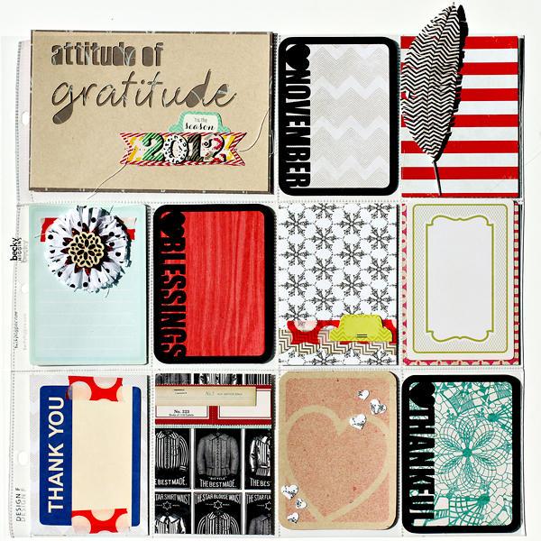 Attitude of Gratitude cards days 1-10