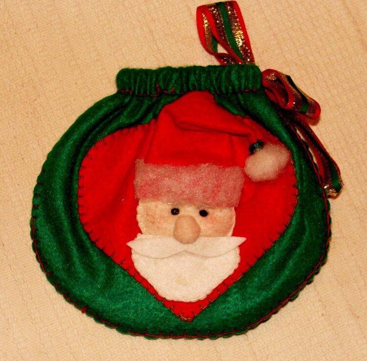 Saquinho para presente de Natal