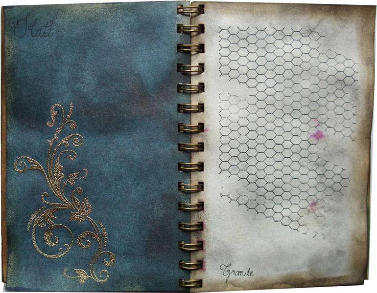 Glimmer mist colour chart album 5x7 Slate and Granite