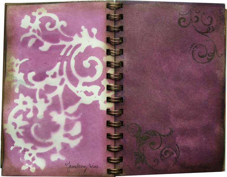 Glimmer mist colour chart album 5x7 Juneberry Wine and Haunted Shadows
