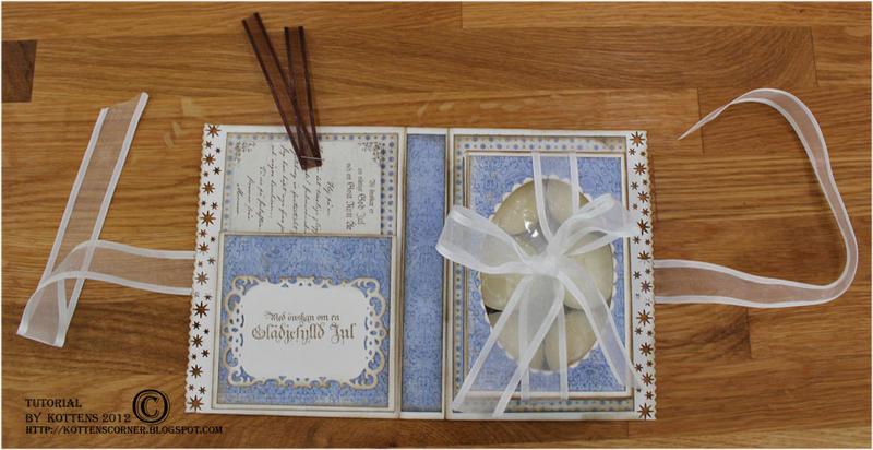 Tea light card inside with detailed tutorial - Maja Design