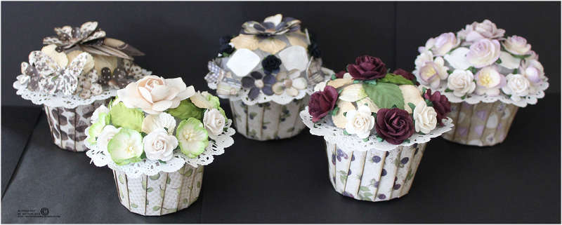 Cupcakes with tutorial - Maja Design