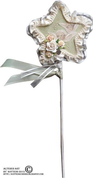 Christmas flower stick