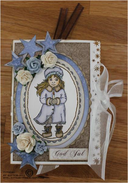 Tea light card cover with detailed tutorial - Maja Design