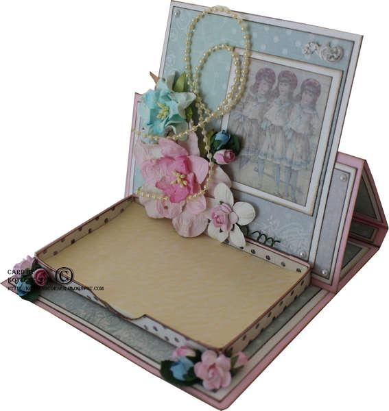 Post it easel card *** The Flying Unicorn June kit ***