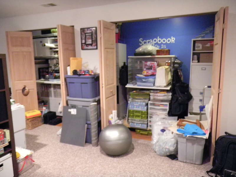 My mess during shelf move, this was my craft closet