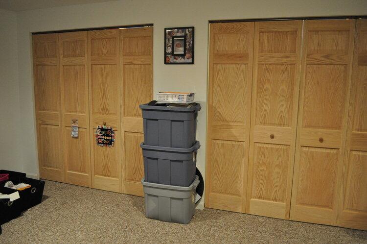 Scrap closet with doors shut