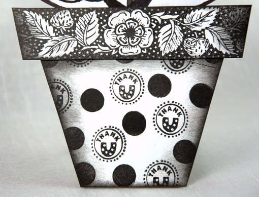 Paper Flower Pot - Close Up