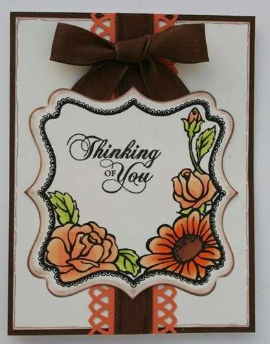 "Melisa's ""Thinking of You"" card"